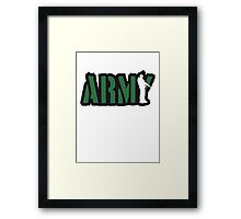 Soldier ARMY stamp Framed Print