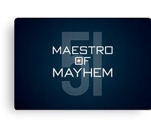 Maestro of Mayhem Canvas Print