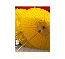 Beach Umbrellas - Koh Samui Art Print