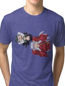 Inuyasha and Kagome Tri-blend T-Shirt