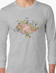 Woodland Flowers - Green Long Sleeve T-Shirt