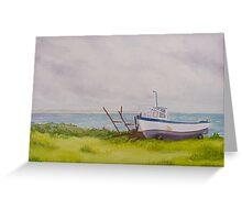 Boat at Blacksod Greeting Card