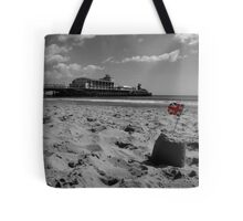 Bournemouth Pier in Black and White Tote Bag