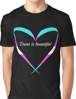Trans Is Beautiful Heart Graphic T-Shirt