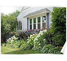 Periwinkle Shutters Poster