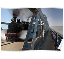 G Class Steam Train crossing the motor/railway bridge, Murray Bridge Poster