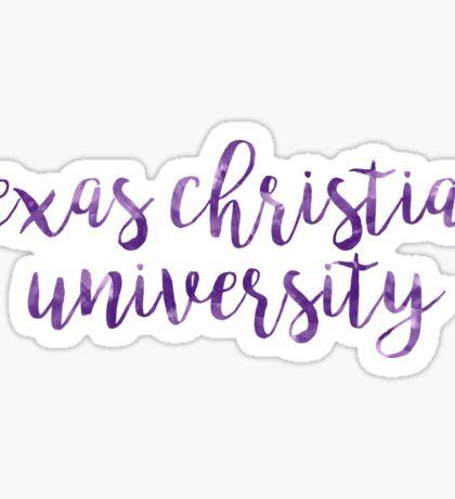 Texas Christian University/TCU Watercolor Sticker