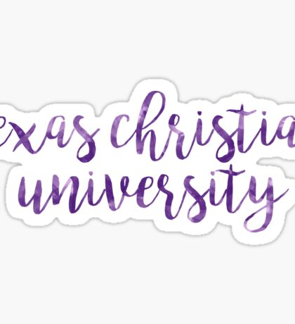 Texas Christian University/TCU Watercolor Sticker