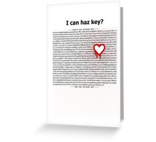 Heartbleed OpenSSL One Greeting Card