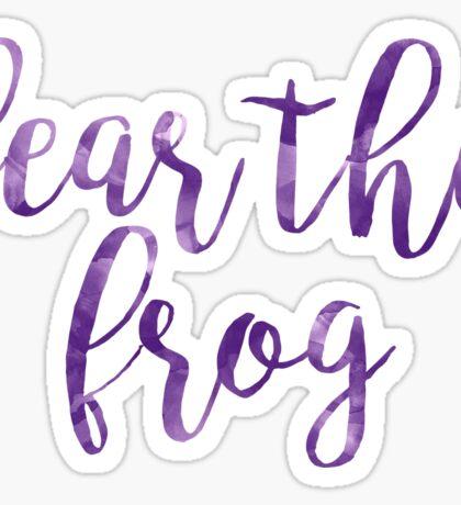Fear the Frog (TCU) Texas Christian University Sticker