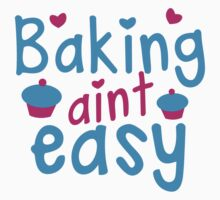 Baking aint EASY cupcake Kids Tee