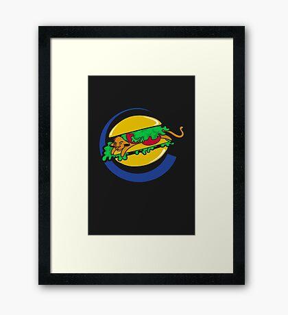 The Lion Burger King Framed Print