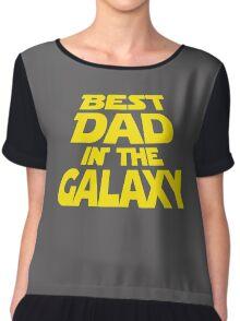 Best Dad In The Galaxy Funny Chiffon Top
