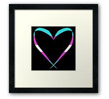 Trans Heart Pattern Framed Print