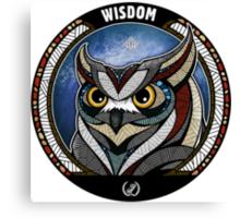Owl Noctua Wild Totem Canvas Print
