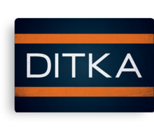 Ditka Canvas Print