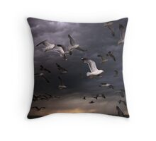 Seagull Storm Throw Pillow & Tote Bag Throw Pillow
