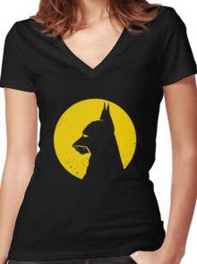 Batdog Women's Fitted V-Neck T-Shirt