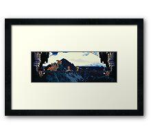 Chrono vs. Dragon Tank Framed Print