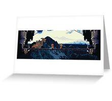 Chrono vs. Dragon Tank Greeting Card