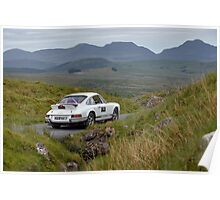 The Three Castles Welsh Trial 2014 - Porsche 911 Poster