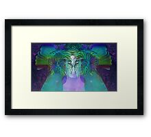 Trippy Psychedelic Photo Manipulation Framed Print