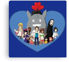 love family studio ghibli Canvas Print