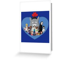 love family studio ghibli Greeting Card