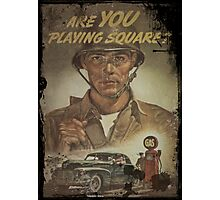 Are You Playing Fair - Gas Rationing Photographic Print