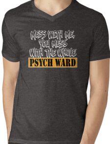 FUNNY PSYCH WARD Mens V-Neck T-Shirt