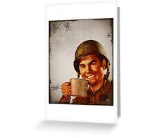 GI Joe with Cuppa Joe Greeting Card