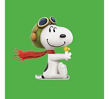 cute snoopy pillot  Photographic Print
