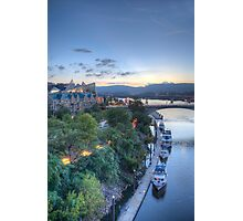 Riverfront Dock Photographic Print