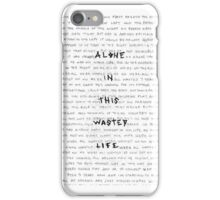 Alone In This Wasted Life iPhone Case/Skin