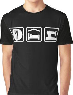 Eat Sleep Sewing Funny Shirt Graphic T-Shirt