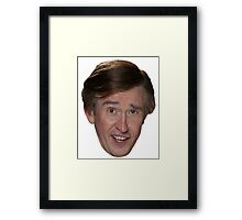 Alan Partridge Face Framed Print