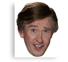Alan Partridge Face Canvas Print