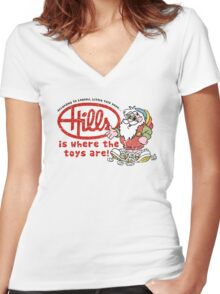Hills is where the toys are! Women's Fitted V-Neck T-Shirt