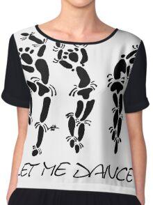 """Let Me Dance"" by Carter L. Shepard Chiffon Top"