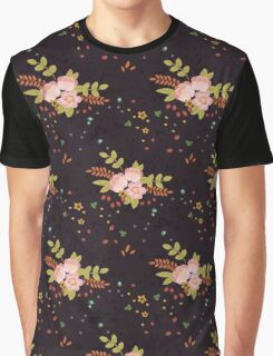 Woodland Flowers - Black Graphic T-Shirt