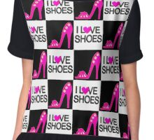 PASSIONATE PINK I LOVE SHOES DESIGN Chiffon Top