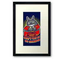 happy totoro-be my neighbour Framed Print
