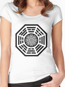 Dharma Initiative White Lotus Women's Fitted Scoop T-Shirt