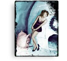 Clara By an Igloo Canvas Print