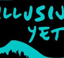 Illusive Yetis GISHWHES Team Stickers Sticker
