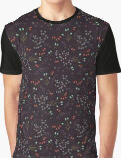 Woodland Berries - Black Graphic T-Shirt