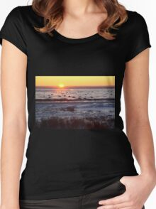 Sunrise at Churchill, Canada Women's Fitted Scoop T-Shirt