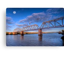 Moon River - Railway Bridge at Murray Bridge, South Australia Canvas Print