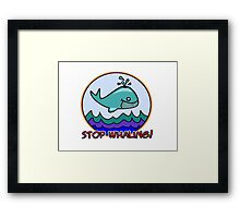 Stop whaling! Framed Print