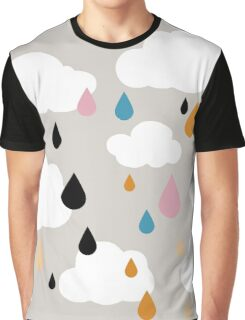 A Grey Rainy Day Graphic T-Shirt
